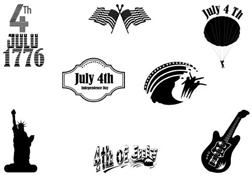 fourth of july vector images