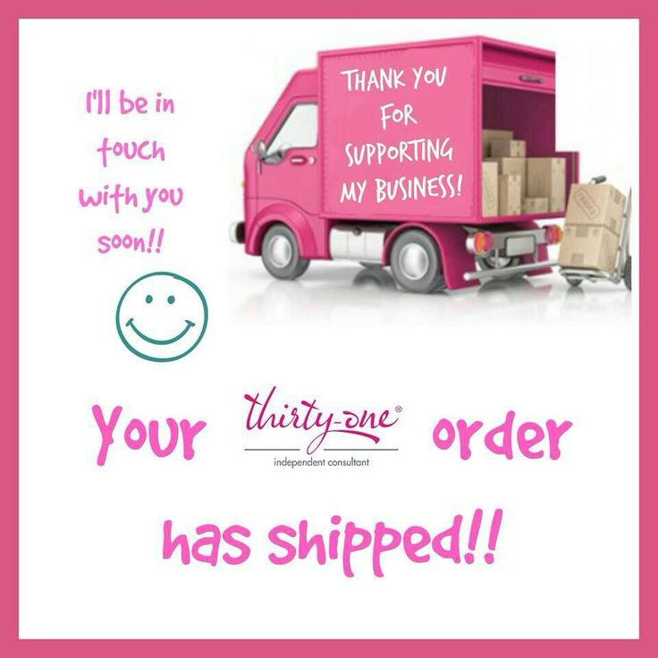 Order shipped | thirty-one | Pinterest