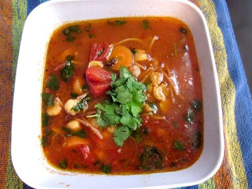Vegan chickpea noodle soup.   Recipes   Pinterest