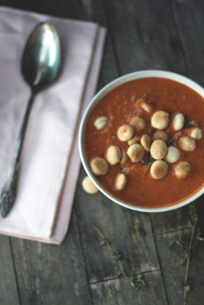 Roasted Tomato Soup with Homemade Oyster Crackers | recipes from Food ...