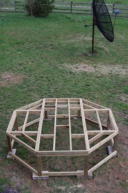 Gazebo chicken coop property garden plans pinterest for Gazebo chicken coop