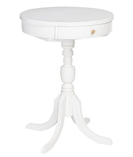 White Pedestal : White Pedestal Table -Society Social
