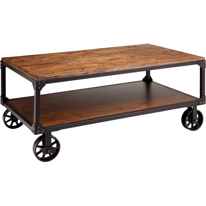 Industrial coffee table Industrial metal coffee table
