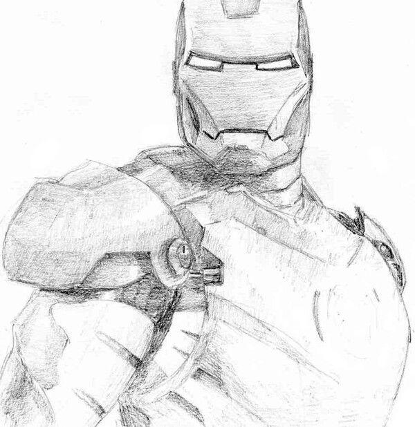 Iron man, sketch, stuff, pencil | Art | Pinterest Iron Man Pencil Drawings