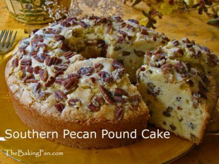 Pecan Sour Cream Pound Cake Recipe — Dishmaps