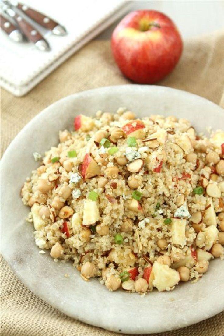 quinoa salad with apple chickpeas toasted almonds amp apple cider ...