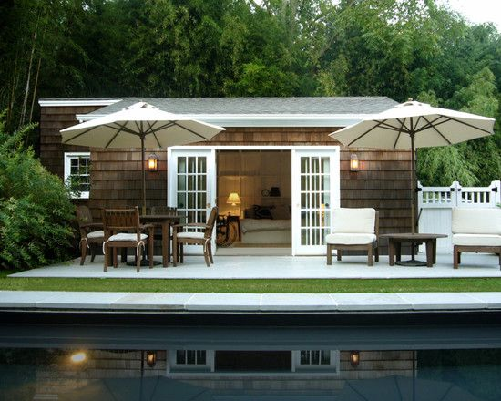 Pool house guest house rancher pinterest Pool house guest house plans