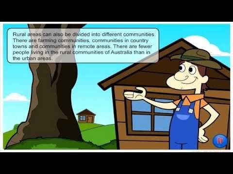 Urban and Rural Communities in Australia | Social Studies | Pinterest