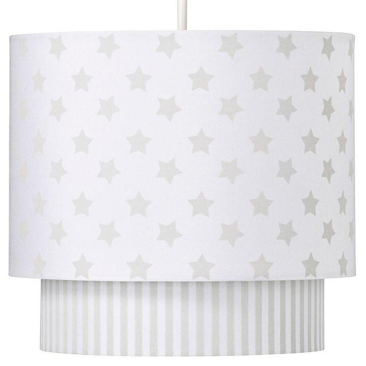 George Home Grey Stars Lamp Shade