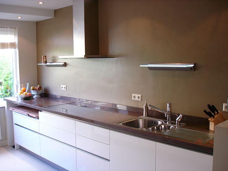 keuken met taupe kleurige kalkverf keuken pinterest