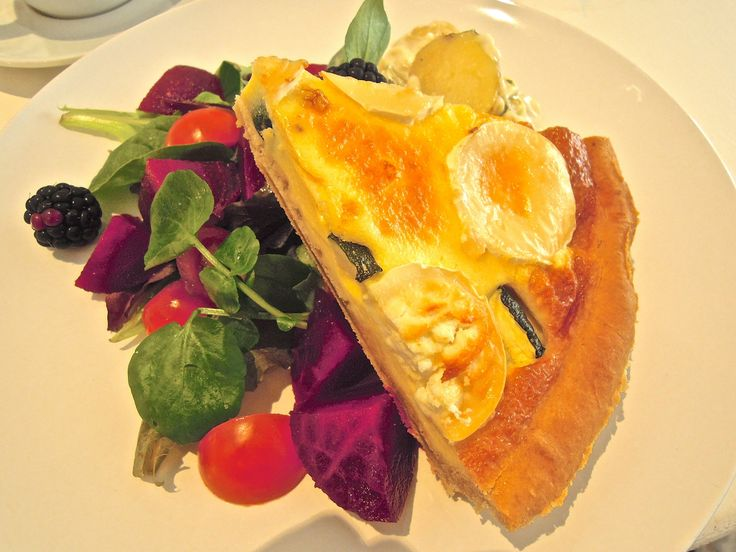Goats' cheese and courgette quiche at Like a Tea Tray in the Sky