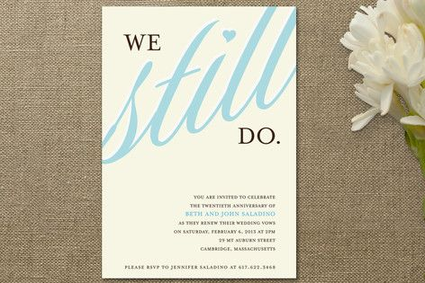 this would be a great way to send invites for our vow renewal...
