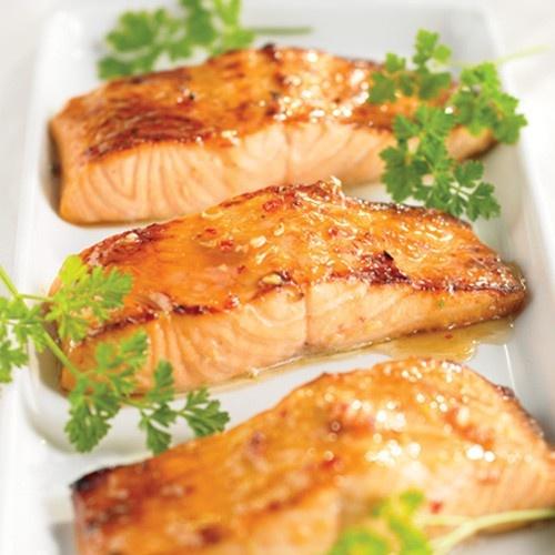maple balsamic glazed salmon | random | Pinterest