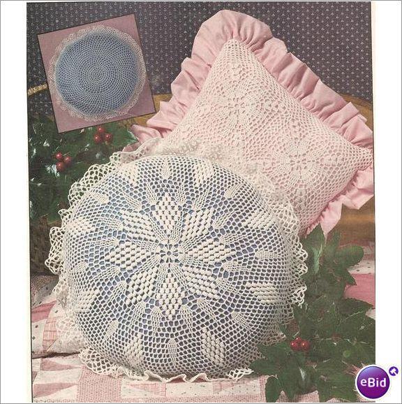 Crochet Pillow Pattern Square & Round Pillows on eBid New Zealand