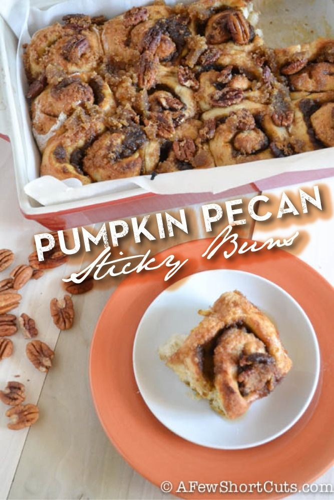 The ultimate fall breakfast! Pumpkin Pecan Sticky Buns Recipe!.