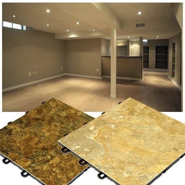 Slate laminate flooring interlocking basement floor for Interlocking laminate flooring