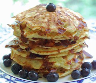 Lemon Blueberry Cottage Cheese Pancakes - A Little Nosh