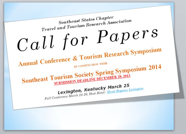 tourism research call for papers