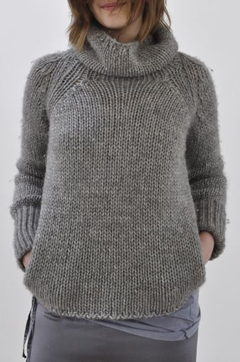 pockets in a cozy sweater