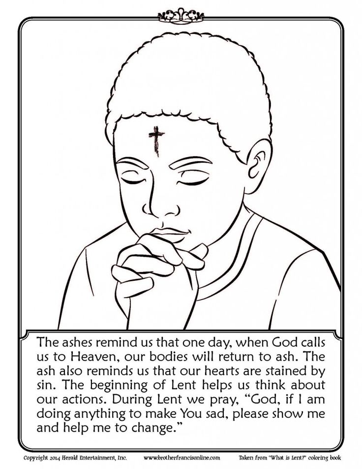 lenten coloring pages - photo#3