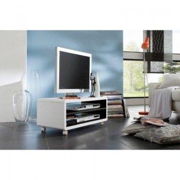 Hoogglans wit tv meubel Jeff W  wonen  RELAX  Pinterest