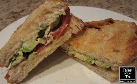 Avocado & Bacon Sandwich featured at Lady Behind the Curtain