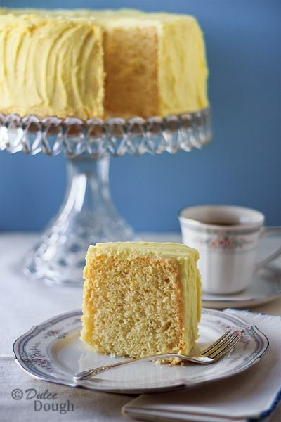Lemon Chiffon Cake with Lemon Butter Icing | Recipe