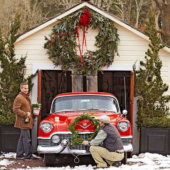 Christmas car christmas pics pinterest Classic outdoor christmas decorations