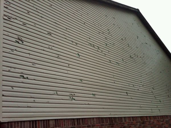 Pin by aaron brown on for the home pinterest for Hail damage vinyl siding
