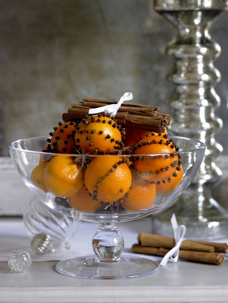 Traditional Christmas oranges with cloves