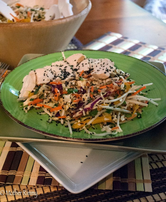 Asian Salad with Poached Chicken | Recipe