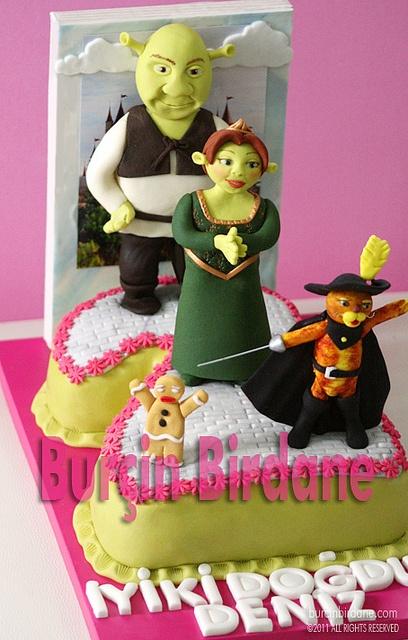 Shrek cake - Birchin Birdane