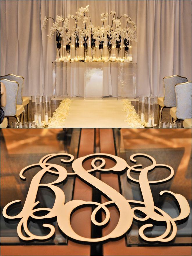 Simple And Elegant Wedding Ceremony Decor Photo Tambi Howard