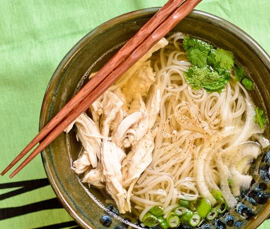 Pho Ga - Vietnamese Chicken Noodle Soup. I'd have to leave out the ...