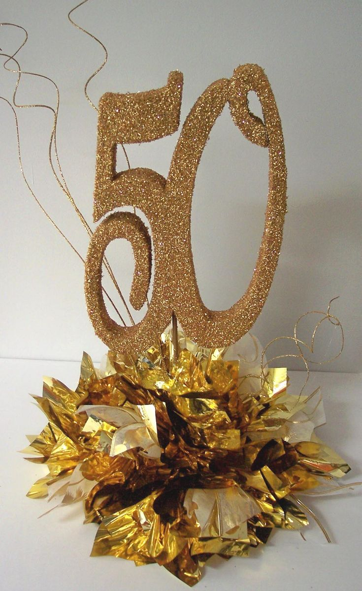Pin by kathy schroeder on anniversary pinterest for Table decoration 50th birthday