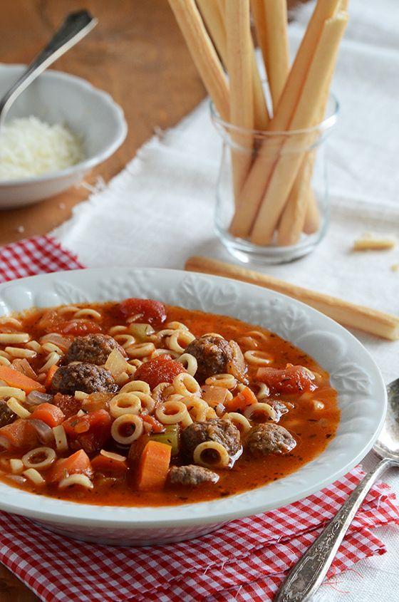 Spaghetti Ring & Meatball Soup | Soups | Pinterest