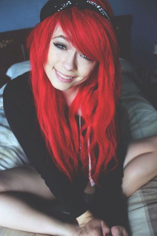 Red scene hair. | ♡ | Hairstyles. | Pinterest
