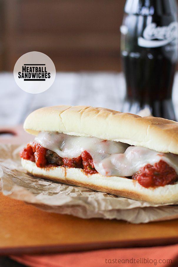 Meatball Sandwiches via @Deborah Harroun {Taste and Tell} #meatball # ...