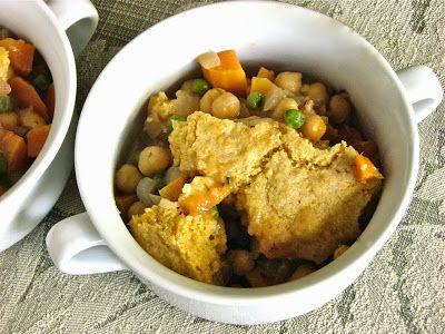 Chickpea Pot Pie with cornmeal crust