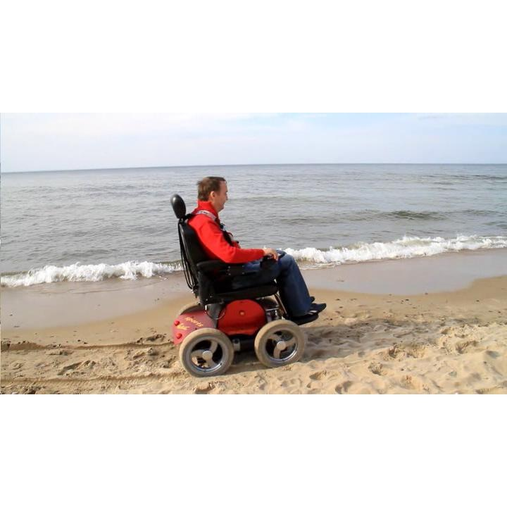 Beach electric wheelchair change my life wow items for Motorized beach wheelchair rental