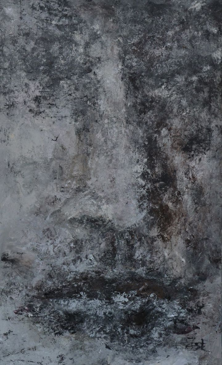 Iwona Ostrowska, Twarz 2, olej na płótnie, 146x84 cm.
