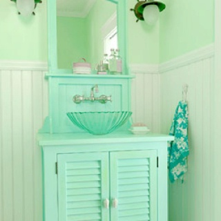 Home Decorating on Sea Foam Green   Home Decor