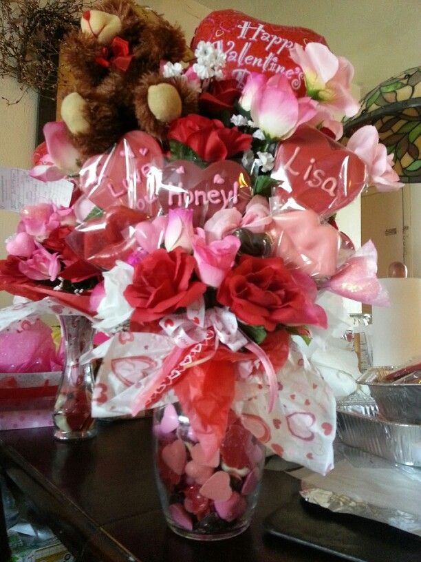 diy valentine bouquet for him