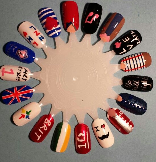 One direction nail art done by me one direction nails pinterest