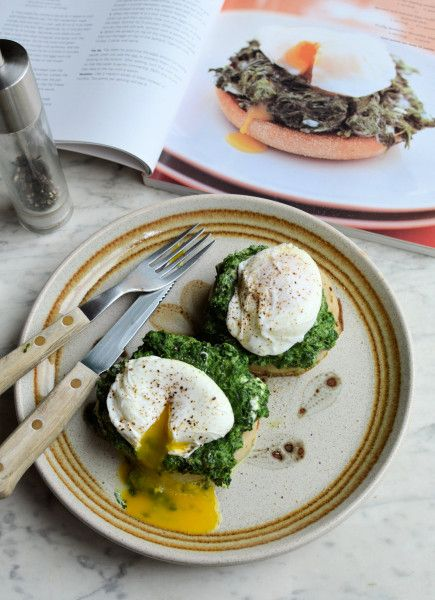 ... Breakfast, Brunch or Lunch: Spinach and Poached Egg Muffins Recipe