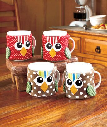 Set of 4 Mug Cozies