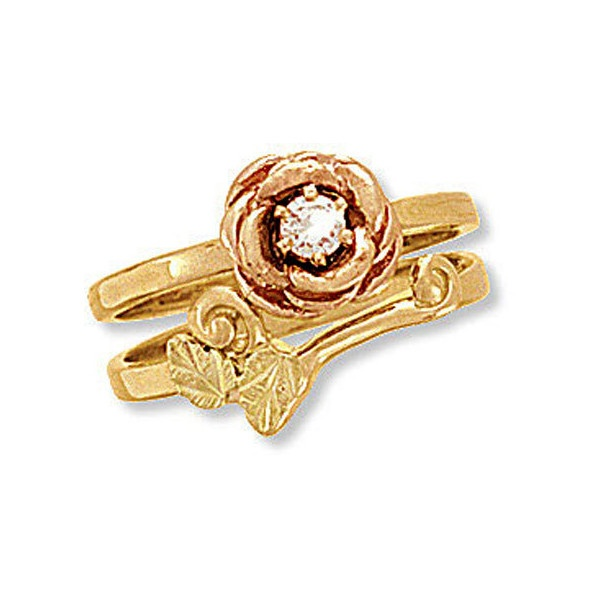 landstroms black hills gold wedding set rose engagement ring