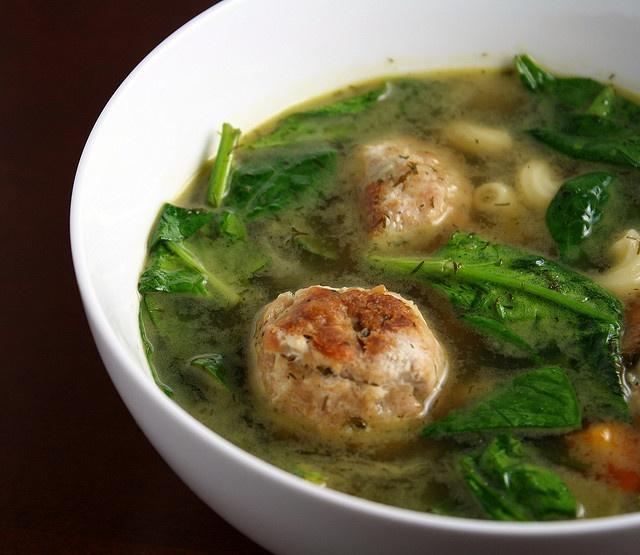 Ina Garten's Italian Wedding Soup with Chicken Meatballs