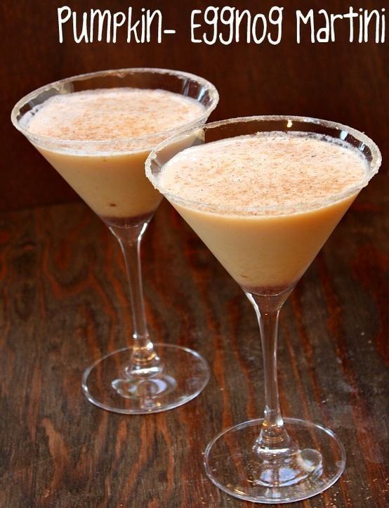 Pumpkin- Eggnog Martini | Yummy Recipes | Pinterest