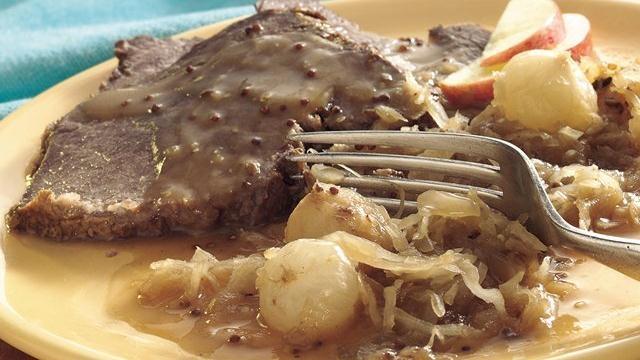 Bavarian-Style Beef Roast and Sauerkraut